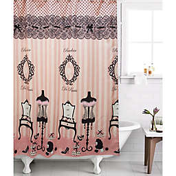 Boudoir Lounge Shower Curtain In Pink Blush