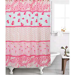 Shabby Rose Shower Curtain In Fuchsia