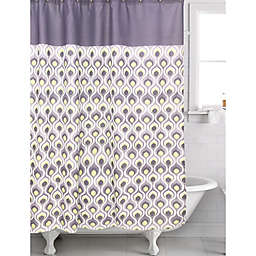 Curved Shower Curtain in Dusk