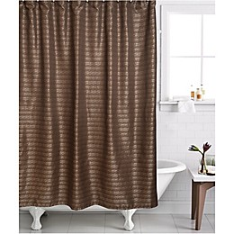 Famous Home® 2-Piece Modena Shower Curtain and Liner Set in Bronze