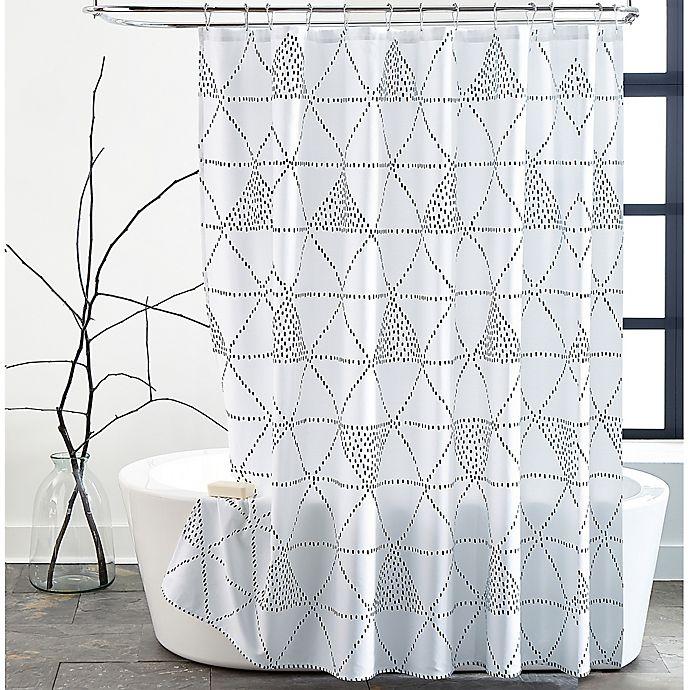 Alternate image 1 for Diamond Dash 72-Inch x 72-Inch Shower Curtain in Black