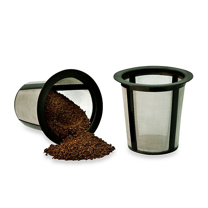 Alternate image 1 for Medelco Reusable Single Serve Coffee Filters (Set of 2)