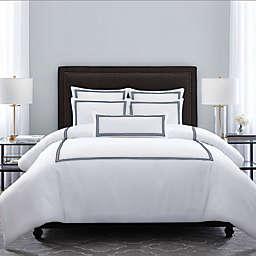 Wamsutta® Hotel Triple Baratta Stitch Full/Queen Comforter Set in Navy