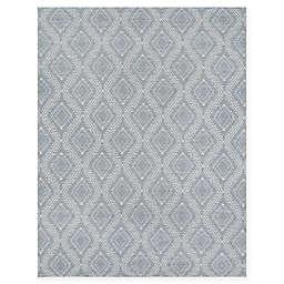 Erin Gates Easton Geometric 7'6 x 9'6 Handcrafted Area Rug in Grey