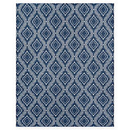 Erin Gates Easton Geometric 3'6 x 5'6 Handcrafted Area Rug in Navy