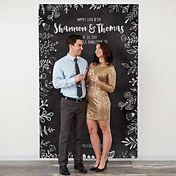 Chalkboard 58-Inch x 90-Inch Wedding Photo Backdrop