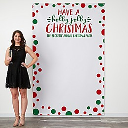 Holly Jolly Christmas 58-Inch x 90-Inch Photo Backdrop