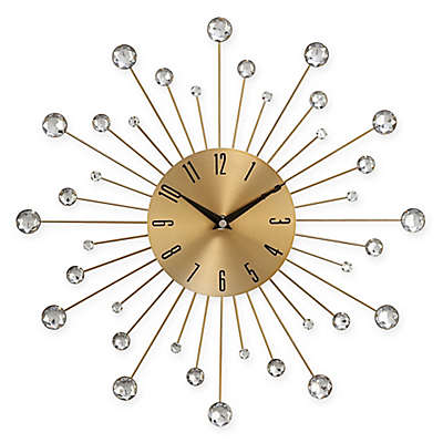 Ridge Road Décor Beaded Burst Wall Clock