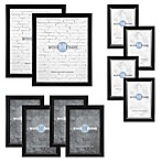Core Gallery Wood Photo Frame Set in Black (10-Piece Set)