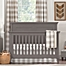 Part of the Liz and Roo Buffalo Check Crib Bedding Collection in Taupe