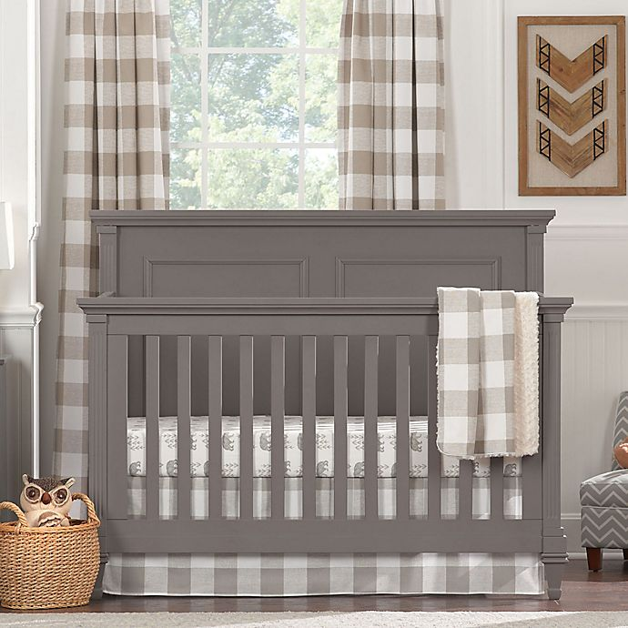 Alternate image 1 for Liz and Roo Buffalo Check 3-Piece Crib Bedding Set in Taupe
