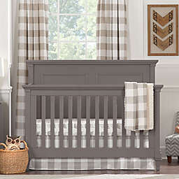Liz and Roo Buffalo Check Crib Bedding Collection in Taupe