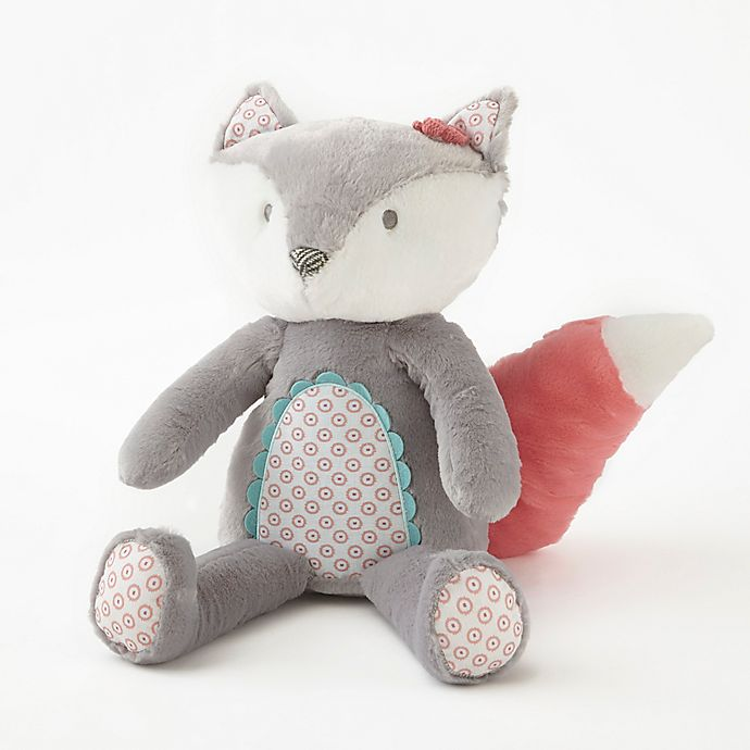 Levtex Baby Fiona Plush Fox Toy In Grey Coral Bed Bath Beyond