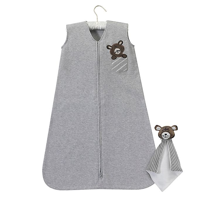 Alternate image 1 for Lambs & Ivy® Urban Jungle Tiger Snuggle Sleeper and Lovey in Grey