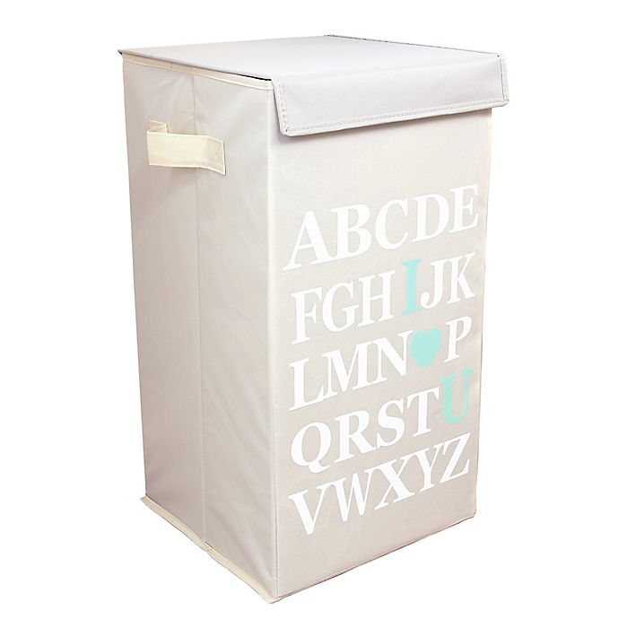 Alternate image 1 for Dazz ABC I Love Your Flip-Top Laundry Hamper