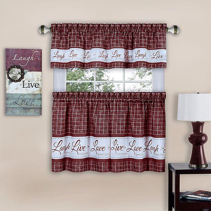 Achim Live Love Laugh Window Curtain Tier Pair Bed Bath Beyond