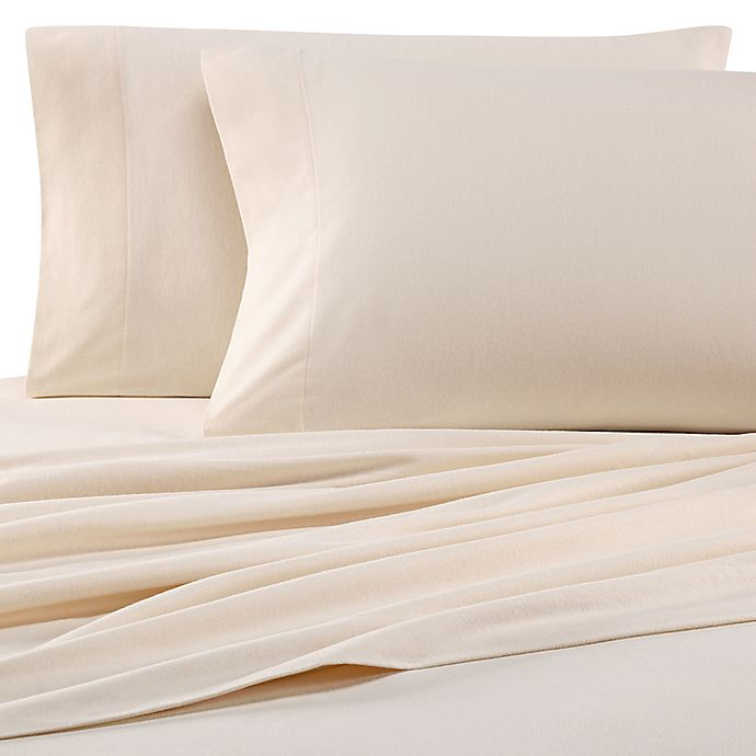 Alternate image 1 for The Seasons Collection® HomeGrown™ California King Flannel Sheet Set in Ivory