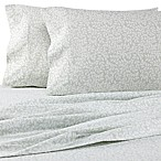 The Seasons Collection® HomeGrown™ Simple Green Leaf Queen Flannel Sheet Set