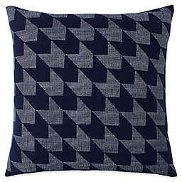 Lacoste Herringbone Square Throw Pillow in Black