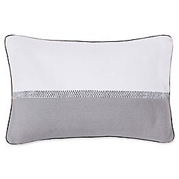 Lacoste Embroidery Line Oblong Throw Pillow in Alloy Grey