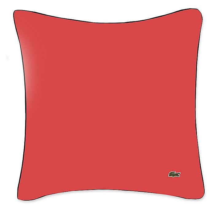Alternate image 1 for Lacoste® Square Linen Throw Pillow in Red