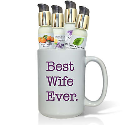 """Pure Energy Apothecary """"Best Wife Ever"""" Lotions & Gift Mug Set"""