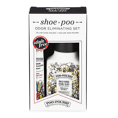 Poo-Pourri® Before-You-Go® Shoe & Poo Odor Eliminating Set in Original Citrus