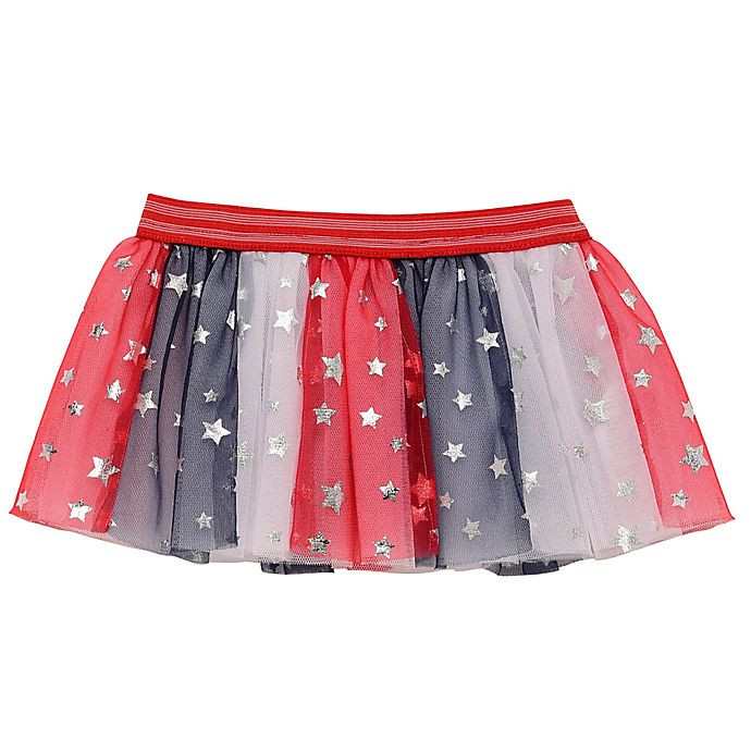 Alternate image 1 for Baby Starters® Patriotic Tutu Skirt in Red/White/Blue