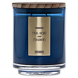 DW Home Sea Salt and Marine Wood-Accent 19 oz. Jar Candle in Blue