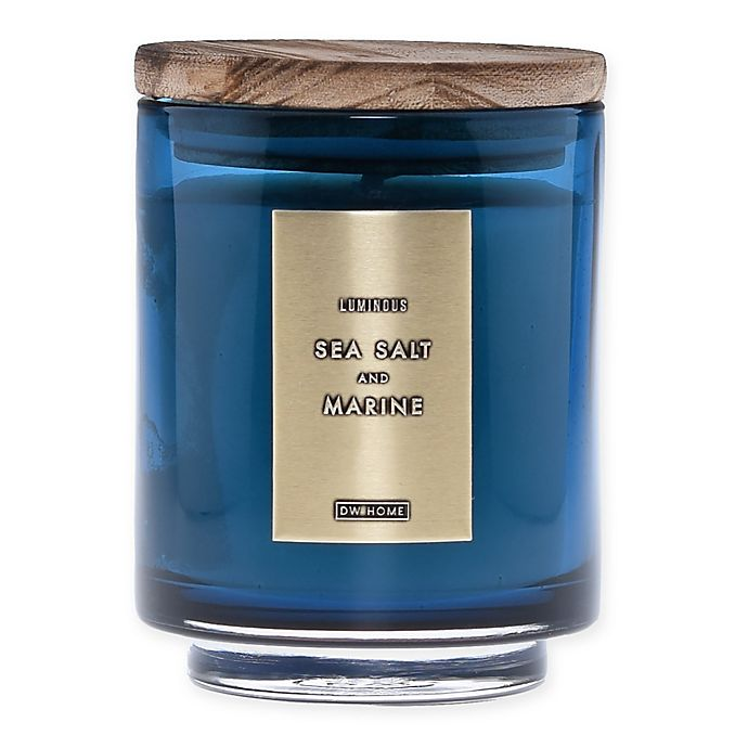 Alternate image 1 for DW Home Sea Salt and Marine Wood-Accent 10 oz. Jar Candle in Blue