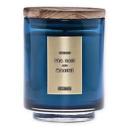 DW Home Sea Salt and Marine Wood-Accent 10 oz. Jar Candle in Blue