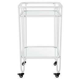 Forest Gate 35-Inch Metal and Glass Serving Cart