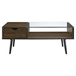 Forest Gate Diana Mid-Century Modern Wood Glass Coffee Table