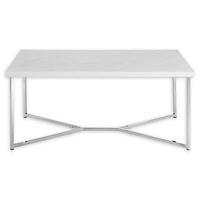"""Forest Gate 42"""" Joan Modern Glam Coffee Table"""