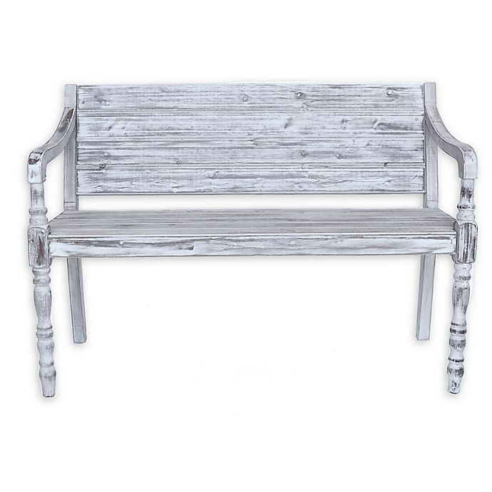Alternate image 1 for Coastal Collection Outdoor/Indoor Wooden Bench Settee