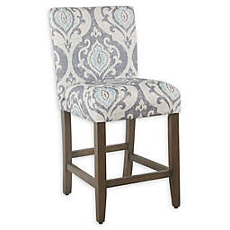 HomePop Parsons 24-Inch Counter Bar Stool in Blue