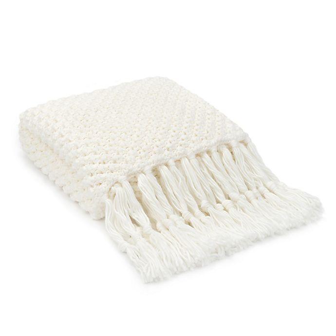 Alternate image 1 for UGG® Poppy Throw Blanket in Snow