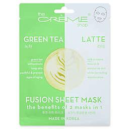 The Crème Shop® 2-in-1 Green Tea Latte Fusion Face Mask