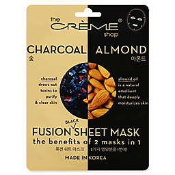 The Crème® Shop 2-in-1 Fusion Black Charcoal and Almond Sheet Mask