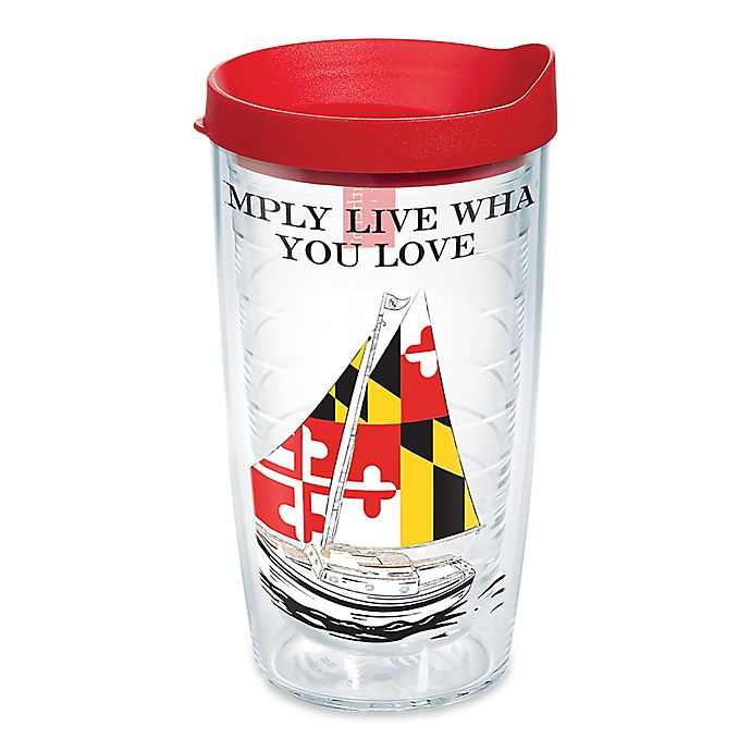 Alternate image 1 for Tervis® Simply Southern MD Flag Sailboats 16 oz. Wrap Tumbler with Lid