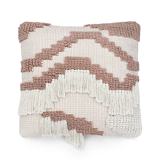 Alternate image 1 for UGG® Lunada Fringe 20-Inch Square Throw Pillow in Snow