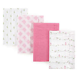 Luvable Friends® 4-Pack Bird Flannel Burp Cloths in Pink