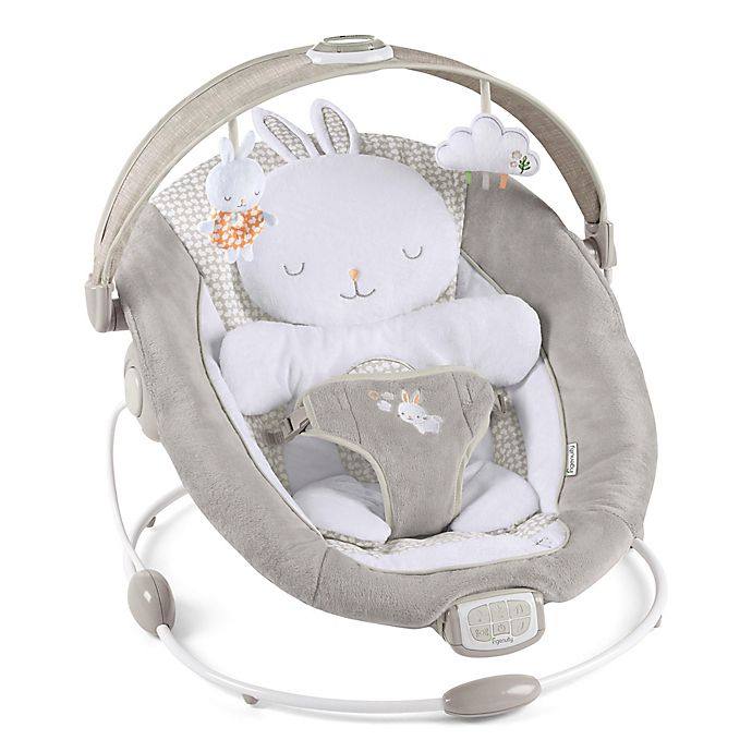 Alternate image 1 for Ingenuity™ Twinkle Tails Bouncer in Grey