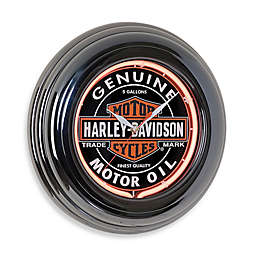 Harley Davidson® Oil Can Neon Clock