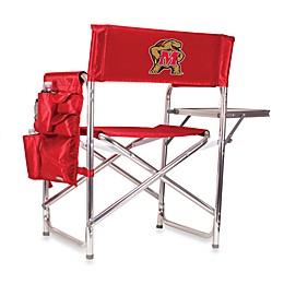 NCAA University of Maryland Collegiate Folding Sports Chair in Red