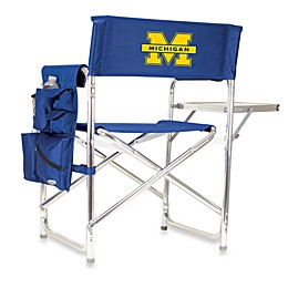 NCAA University of Michigan Collegiate Folding Sports Chair in Navy Blue