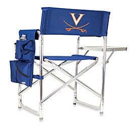 NCAA University of Virginia Collegiate Folding Sports Chair in Navy Blue