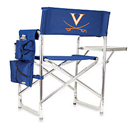 NCAA University of Virginia Collegiate Folding Sports Chair in Navy Blue