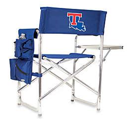 Picnic Time® Louisiana Tech University Collegiate Folding Sports Chair in Navy Blue