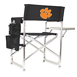 Picnic Time® Clemson University Collegiate Folding Sports Chair in Black